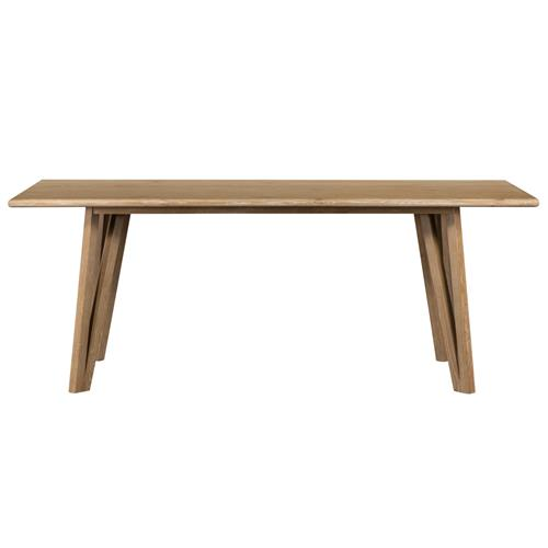 Sofia Modern Classic Whitewash Brown Wood Retangular Dining Table | Kathy Kuo Home