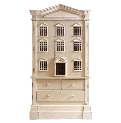 Louise French Country Tall Dollhouse 3 Drawer Dresser Cabinet | Kathy Kuo Home