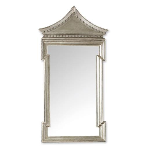 Governors Palace Hollywood Regency Antique Silver Leaf Wall Mirror - 50.5 Inch | Kathy Kuo Home