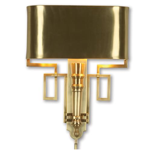 Pasadena Hollywood Regency Polished Gold Deco Style Sconce | Kathy Kuo Home