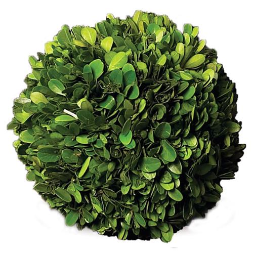 Marin French Country Green Boxwood Ball - Medium | Kathy Kuo Home