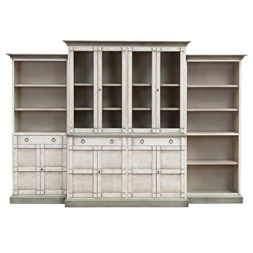 Piece Full Wall Unit China Cabinet, French Country China Cabinet