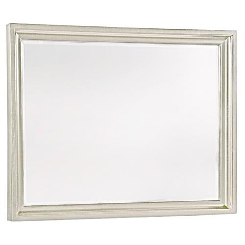 Jean Coastal Beach White Wood Rectangular Beveled Wall Mirror Kathy Kuo Home