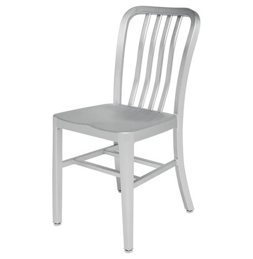 Bleeker Industrial Loft Outdoor Safe Aluminum Dining Chair | Kathy Kuo Home