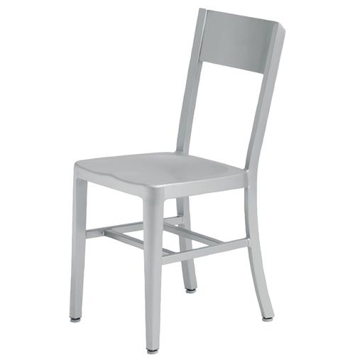 Wooster Industrial Loft Aluminum Dining Chair | Kathy Kuo Home