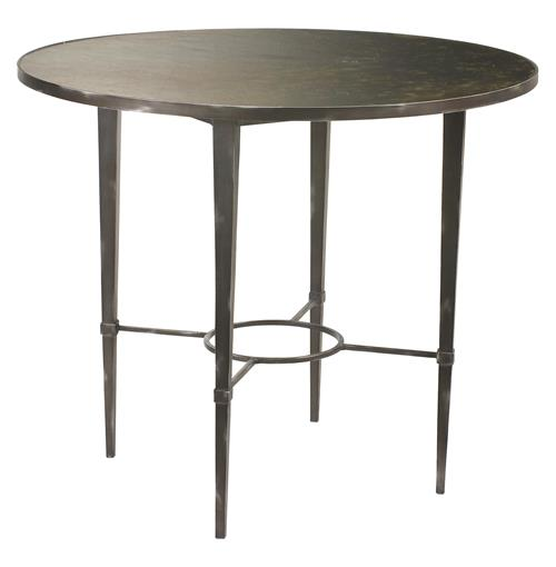 Cavaillon French Industrial Loft Round Iron Dining Table | Kathy Kuo Home