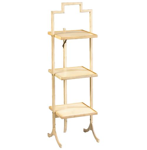 Nouvel French Country Ivory Square Folding Display Shelves