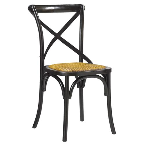 Kasson French Country Black Wood Dining Side Chair | Kathy Kuo Home