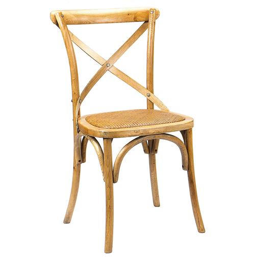 Kasson French Country Light Oak Wood Dining Side Chair | Kathy Kuo Home
