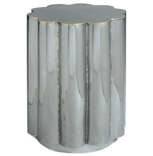 Regina Andrew Hand Global Bazaar Polished Steel Daisy Side Table | Kathy Kuo Home