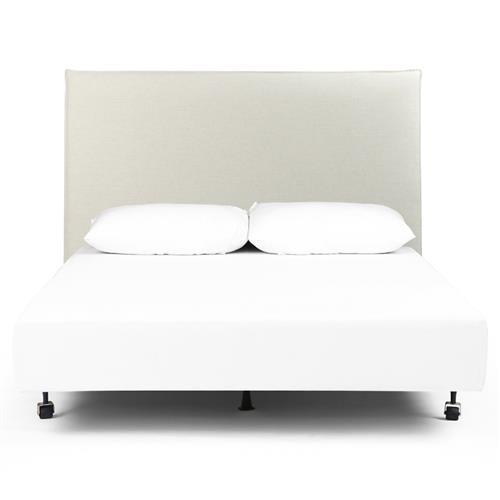 Julia Modern Classic White Performance, Upholstered Bed Frame Queen White