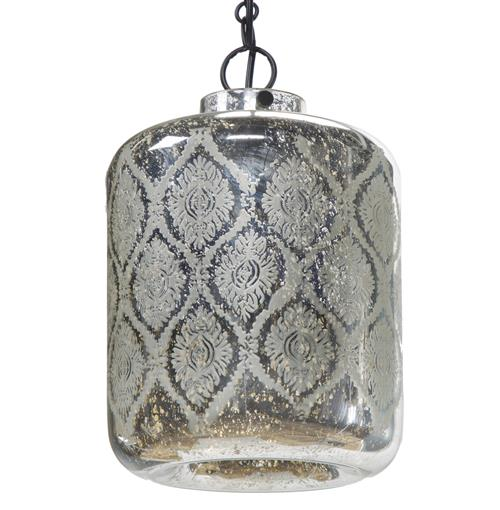 Shanti Global Bazaar Mercury Glass Pattern Pendant Light | Kathy Kuo Home