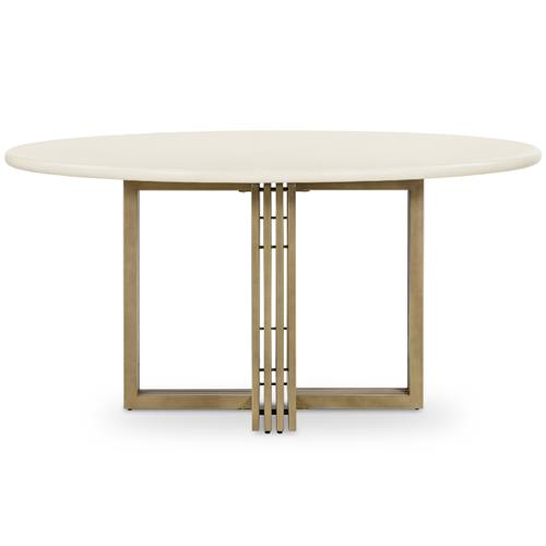 Arabella Modern Beige Concrete Tabletop, 60 Inch Round Table Top