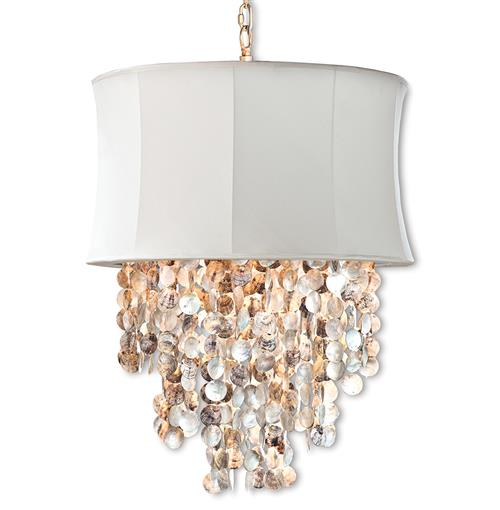 Queensland Coastal Beach Abalone Shell Ivory Chandelier | Kathy Kuo Home