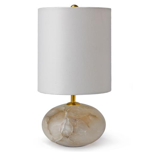 Regina Andrew Alabaster Punta Coastal Beach Gold Alabaster Stone Table Lamp | Kathy Kuo Home