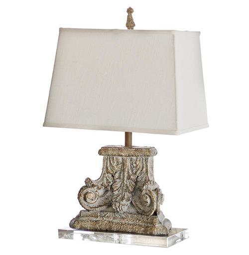 Rivier French Country Capitol Pillar Table Lamp | Kathy Kuo Home