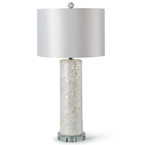 Regina Andrew Scalloped Coastal Beach Ivory Capiz Shell Table Lamp | Kathy Kuo Home