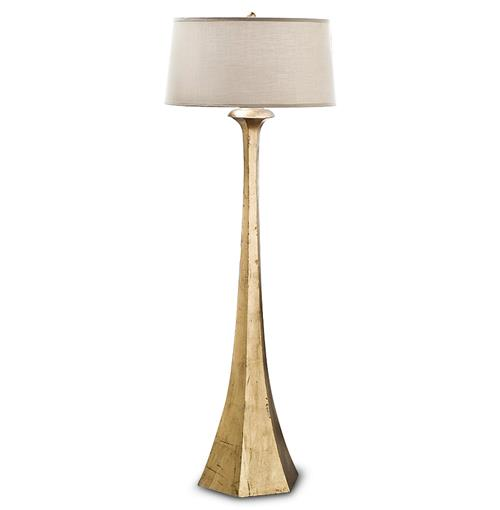 Regina Andrew Tapered Hollywood Regency Gold Leaf Tapered Floor Lamp | Kathy Kuo Home