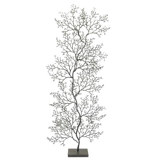 Palecek Coral Sculpture Charcoal Grey Fan Coral Sculpture - Tall | Kathy Kuo Home