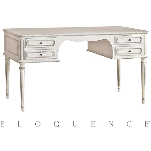 Eloquence Coco Madame Desk in Silver Highlight | Kathy Kuo Home