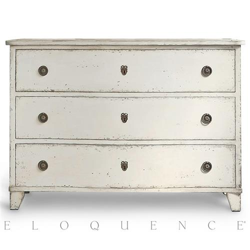 Eloquence Gustavus Commode in Antique White Bachelor Chest | Kathy Kuo Home