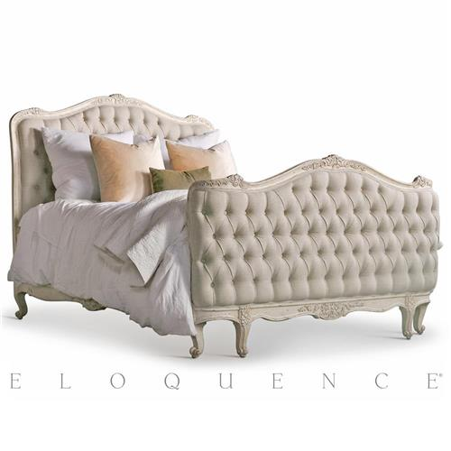 Eloquence® Sophia Queen Bed in Weathered White | Kathy Kuo Home
