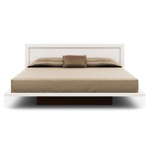 Copeland Moduluxe 35 Panel Headboard Modern White Maple Wood Bed Queen Queen Kathy Kuo Home