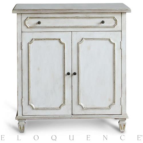 Eloquence Royale Cabinet in Silver Highlight | Kathy Kuo Home
