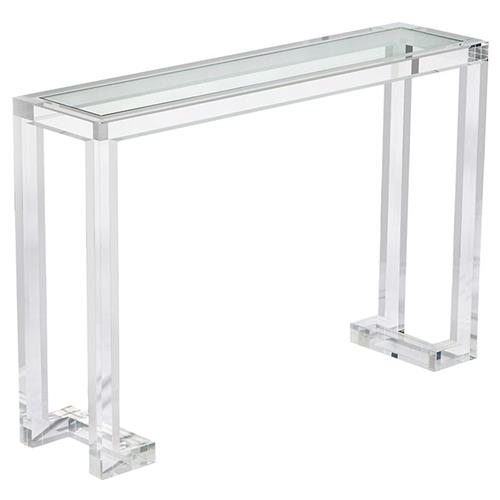 Interlude Ava Modern Acrylic Console Table | Kathy Kuo Home