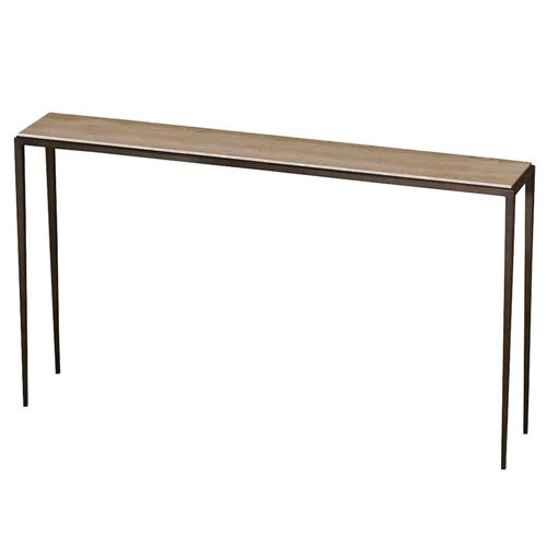 Morell modern cream travertine console sofa table 60 for 60 wide console table