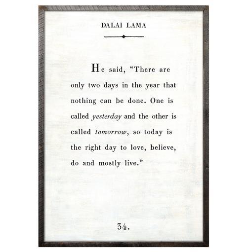 Dalai Lama Quote Love Believe Live Wood Art Print White 36x24 Medium 25 32 Kathy Kuo Home