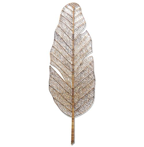 Nito Vine Banana Palm Leaf Coastal Style Large Wall Sculpture - Outdoor Safe | Kathy Kuo Home