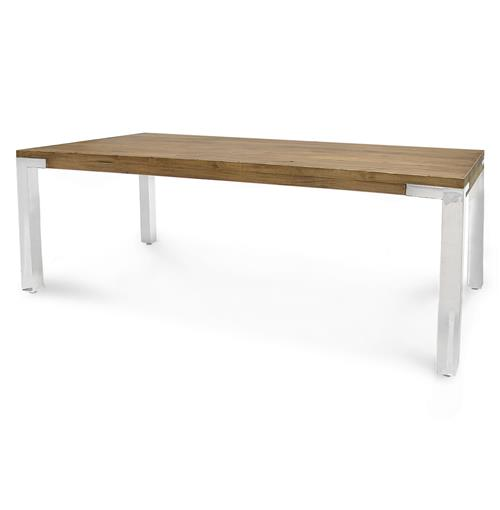 Palecek Brighton Industrial Loft Plantation Hardwood Steel Dining Table | Kathy Kuo Home