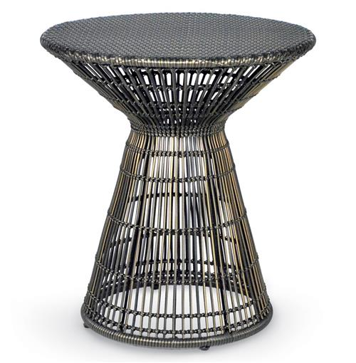 Palecek Verona Coastal Beach Espresso Wicker Side Table | Kathy Kuo Home