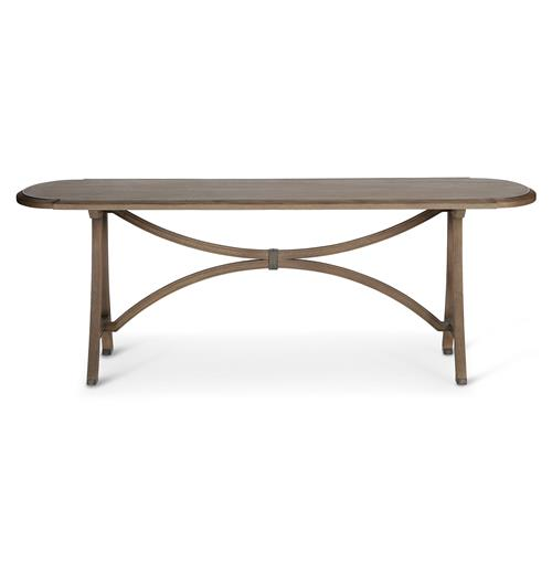 Oliver French Country Oak Iron Dining Table | Kathy Kuo Home
