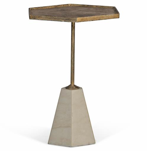 Lucinda Hollywood Regency Honeycomb Marble Side Table | Kathy Kuo Home