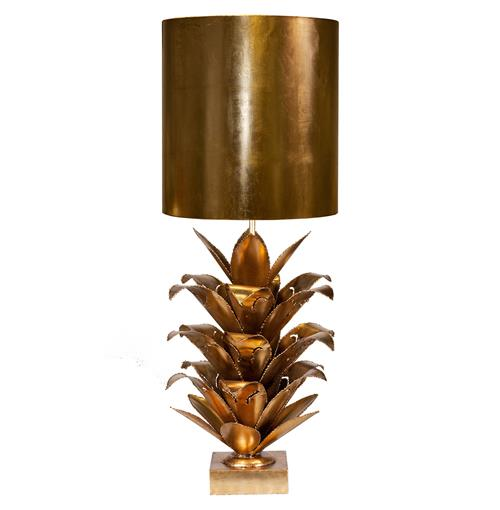 Plantation Global Bazaar Gold Pineapple Table Lamp | Kathy Kuo Home