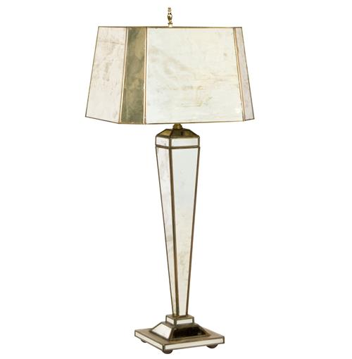Prosecco Hollywood Regency Antique Mirror Table Lamp | Kathy Kuo Home
