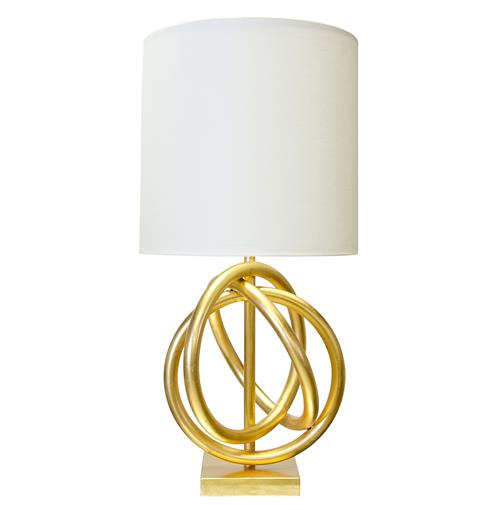Trinity Hollywood Regency Gold Ring White Table Lamp | Kathy Kuo Home
