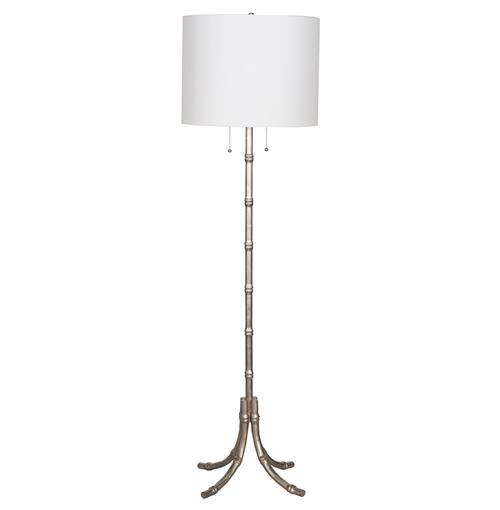 Stork Global Bazaar Silver Bamboo Floor Lamp | Kathy Kuo Home