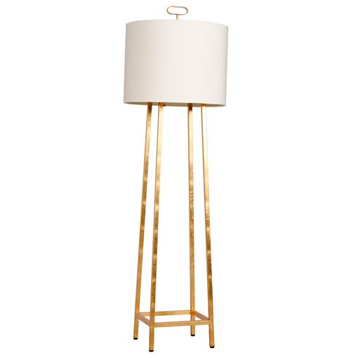 Easel Hollywood Regency Gold Floor Lamp | Kathy Kuo Home