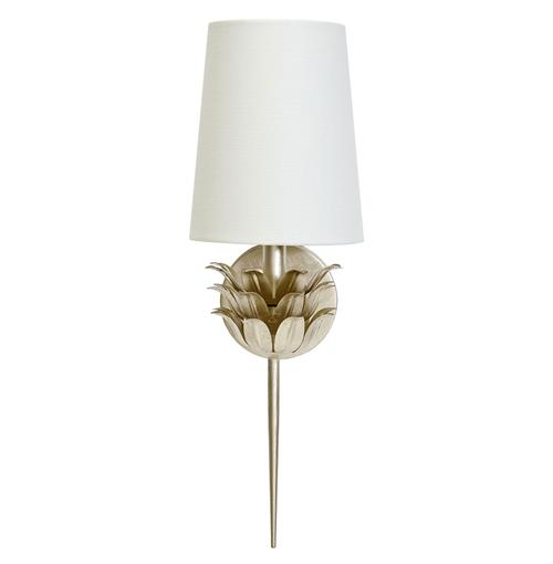 Daylily Global Bazaar 3 Leaf Silver Wall Sconce | Kathy Kuo Home