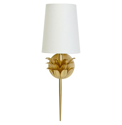 Daylily Global Bazaar 3 Leaf Gold Wall Sconce | Kathy Kuo Home