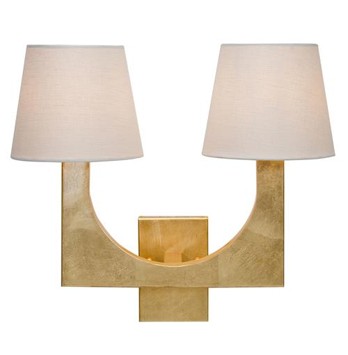 Gold Wall Sconces With Shades : Olsen Hollywood Regency 2 Shade Gold Wall Sconce Kathy Kuo Home