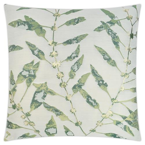 Betha Coastal Beach Square Green Feather Down Decorative Throw Pillow - 20x20 | Kathy Kuo Home