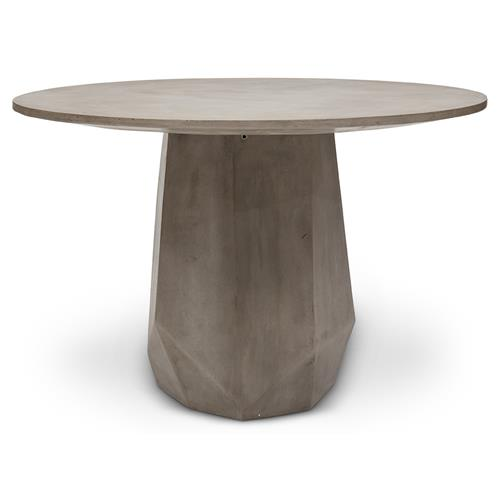 Sion Industrial Loft Dark Grey Concrete, Concrete Round Dining Table Outdoor