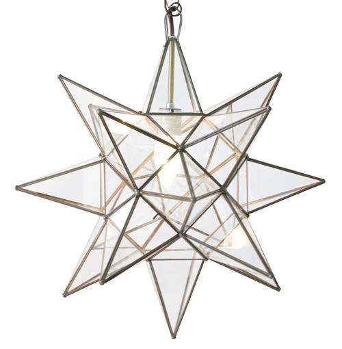 Polaris Hollywood Regency Star Glass Pendant - 12 Inch | Kathy Kuo Home