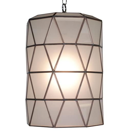 Origami Global Bazaar Frosted Glass Cylinder Pendant Lantern | Kathy Kuo Home