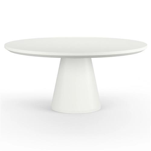 Sunset West Pedestal Modern Bone White, White Round Table