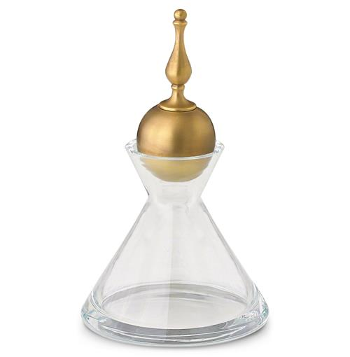 Delhi Global Bazaar Decanter with Matte Brass Finial - 10 Inch | Kathy Kuo Home
